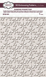 Creative Expressions - 3D Embossing Folder - Diamond Poinsettias (5.75