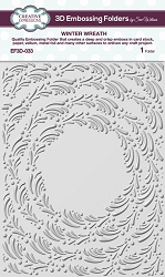 Creative Expressions - 3D Embossing Folder - Winter Wreath (5.75