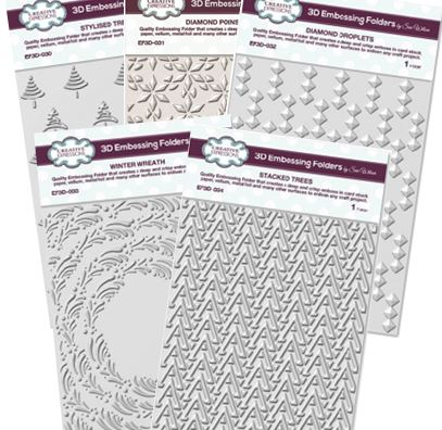 Creative Expressions - 5 new Christmas 3D embossing folder designs