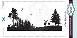 C.E. Designer Boutique - Moonlit Gathering Cling Stamp