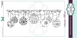 C.E. Designer Boutique - Bauble Garland Cling Stamp