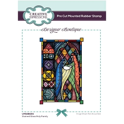 C.E. Designer Boutique - Stained Glass Holy Family Cling Stamp