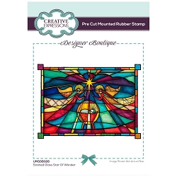 C.E. Designer Boutique - Stained Glass Star Of Wonder Cling Stamp