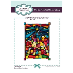 C.E. Designer Boutique - Stained Glass Holy Land Cling Stamp