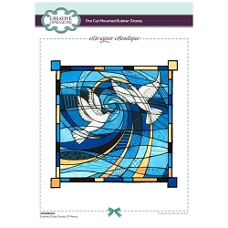 C.E. Designer Boutique - Stained Glass Doves Of Peace Cling Stamp