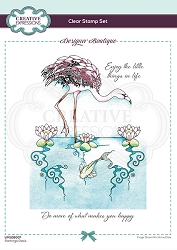 C.E. Designer Boutique - Clear Stamp - Flamingo Oasis by Pink Ink Designs