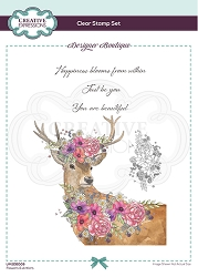 C.E. Designer Boutique - Clear Stamp - Flowers & Antlers by Pink Ink Designs