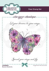 C.E. Designer Boutique - Clear Stamp - Blossom Butterfly by Pink Ink Designs