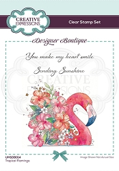 C.E. Designer Boutique - Clear Stamp - Tropical Flamingo by Pink Ink Designs