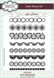 Creative Expressions - Clear Stamp - Art Borders by Lisa Horton