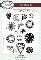 Creative Expressions - Clear Stamp - Art Elements by Lisa Horton