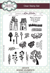 Creative Expressions - Clear Stamp - Scenic Elements by Lisa Horton :)