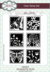 Creative Expressions - Clear Stamp - Silouette Tiles by Lisa Horton