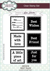 Creative Expressions - Clear Stamp - Text Tiles by Lisa Horton
