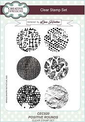 Creative Expressions - Clear Stamp - Positive Rounds by Lisa Horton