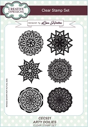 Creative Expressions - Clear Stamp - Arty Doilies by Lisa Horton