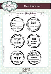 Creative Expressions - Clear Stamp - Sign It by Lisa Horton
