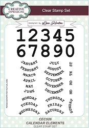 Creative Expressions - Clear Stamp - Calendar Elements by Lisa Horton