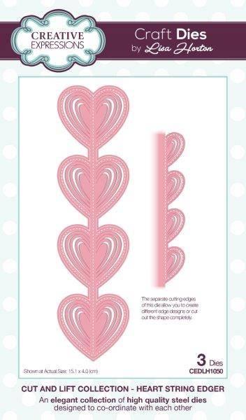 Creative Expressions Cut /& Lift Heart String Edger CEDLH1050 Lisa Horton