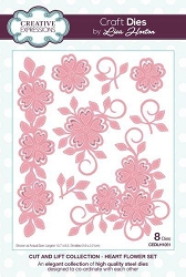 Creative Expressions - Die - Cut and Lift Collection by Lisa Horton - Heart Flowers