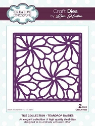 Creative Expressions - Die - Tile Collection by Lisa Horton - Teardrop Daisies
