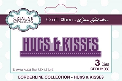 Creative Expressions - Die - Borderline Collection by Lisa Horton - Hugs & Kisses