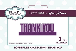 Creative Expressions - Die - Borderline Collection by Lisa Horton - Thank You