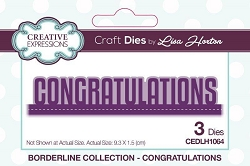 Creative Expressions - Die - Borderline Collection by Lisa Horton - Congratulations