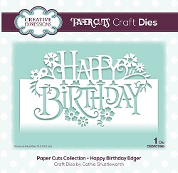 Creative Expressions - Die - Paper Cuts Collection Happy Birthday Edger