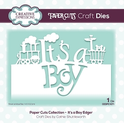 Creative Expressions - Die - Paper Cuts Collection It's A Boy Edger
