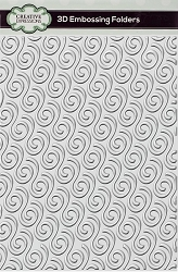 Creative Expressions - 3D Embossing Folder - Ribbon Swirls (5.75