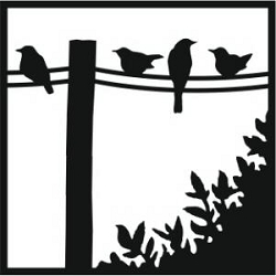 Creative Expressions - Stencil (6x6) - Birds on a Wire