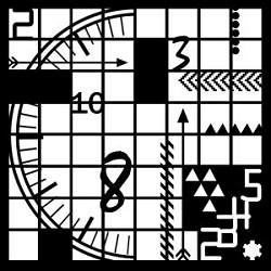 Creative Expressions - Stencil (6x6) - Clock Elements