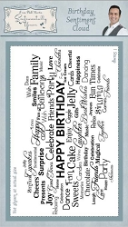 Creative Expressions - Cling Stamp - Sentimetally Yours Birthday Sentiment Cloud by Phill Martin