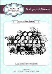 Creative Expressions - Cling Stamp - Bee Yourself Background by Lisa Horton