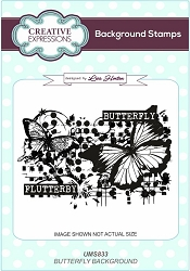 Creative Expressions - Cling Stamp - Butterfly Background by Lisa Horton