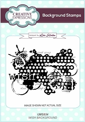 Creative Expressions - Cling Stamp - Wish Background by Lisa Horton
