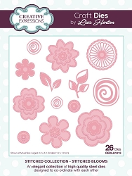 Creative Expressions - Die - Stitched Collection by Lisa Horton - Stitched Blooms