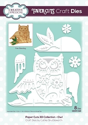 Creative Expressions - Die - Paper Cuts Collection - 3D Owl