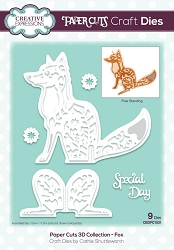 Creative Expressions - Die - Paper Cuts Collection - 3D Fox