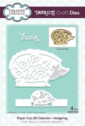Creative Expressions - Die - Paper Cuts Collection - 3D Hedgehog