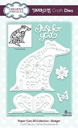 Creative Expressions - Die - Paper Cuts Collection - 3D Badger
