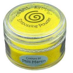 Creative Expressions - Cosmic Shimmer Embossing Powder - Bright Sunshine by Phill Martin