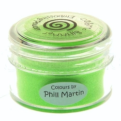 Creative Expressions - Cosmic Shimmer Embossing Powder - Lime Burst by Phill Martin