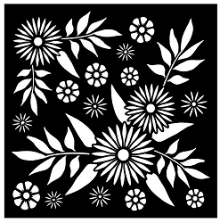 Creative Expressions - Stencil (6x6) - Decadent Daisies Mask