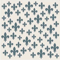 Creative Expressions - Stencil (7.5x7.5) - Scattered Fleur de Lis by Phill Martin