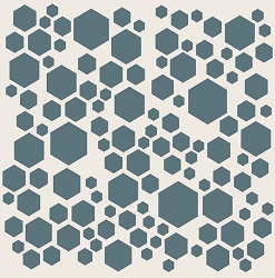 Creative Expressions - Stencil (7.5x7.5) - Scattered Hexagons by Phill Martin