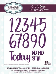 Creative Expressions - Die - Stylish Script Collection by Lisa Horton - Essential Numbers