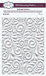 Sue Wilson Designs - 3D Embossing Folder - Sublime Swirls (5.75