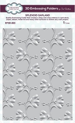 Sue Wilson Designs - 3D Embossing Folder - Splendid Garland (5.75